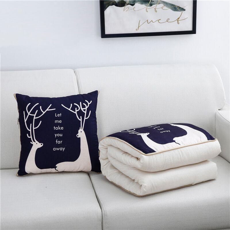 SB Хлопковое одеяло с рисунком, портативное складное квадратное одеяло, подушка для дома, офиса, автомобиля, кондиционер, одеяло, мультяшная подушка|Подушки на кровать|   | АлиЭкспресс