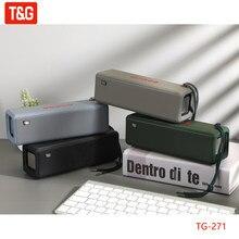 T & g tg271 alto-falante bluetooth alto-falante sem fio portátil coluna de graves à prova dwaterproof água ao ar livre usb tf subwoofer altifalante