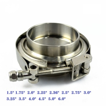 """ZUCZUG 1.5-6.0"""" Stainless steel 304 Quick release VBand clamp with male female flange for exhaust pipe clamps"""