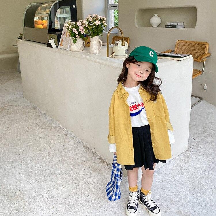 camisa fina jaqueta menina casual topo de 1 11year crianca 03