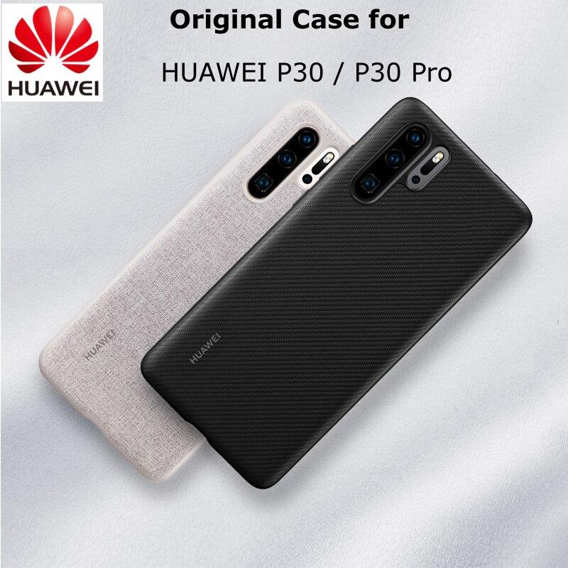 Funda Original para HUAWEI P30 P30 Pro, funda completa oficial para evitar huellas dactilares, funda trasera de cuero de microfibra P30