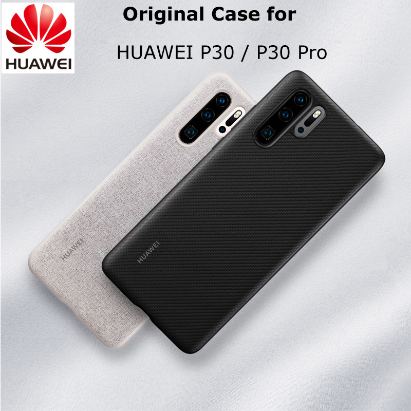 Original For HUAWEI P30 P30 Pro Case Official Full Cover Prevents Fingerprints Microfiber Fiber Leather P30 Back Cover