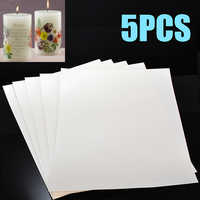 5pcs Inkjet Water-Slide Transfer Paper Clear White A4 Size Water Slide Decal Paper DIY Clothes Pattern Tool