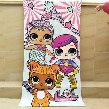 Oryginalny LOL niespodzianka lalka śliczny ręcznik kąpielowy kwadratowy ręcznik plażowy ręcznik z mikrofibry uniwersalne zastosowanie ręcznik plażowy ręcznik kąpielowy tanie i dobre opinie L O L SURPRISE! RĘCZNIK KĄPIELOWY anime Rectangle Original lol doll surprise Szybkoschnący W stylu rysunkowym mikrofibra