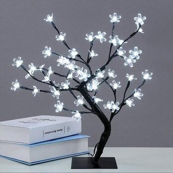 40LED USB Cherry Plum Blossom Tree Light Table Lamps Night light for Home Indoor Bedroom Wedding Party Bar Decoration джемпер plum tree plum tree pl010ewhhgo8