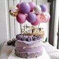 14 шт 5 дюймов шар торт Топпер Baby Shower шар День рождения Декор для детей, для девочек и мальчиков 1st наряд для первого дня рождения шт/уп, комплек...