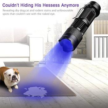 LED czarny ultrafioletowy latarka UV Blacklight niskie zużycie energii światło do sprawdzania zepsutych szklanych notatek karty kredytowe tanie i dobre opinie LISM CN (pochodzenie) NONE przybliżenie Z aluminium Nie dotyczy LATARKI Żarówki LED