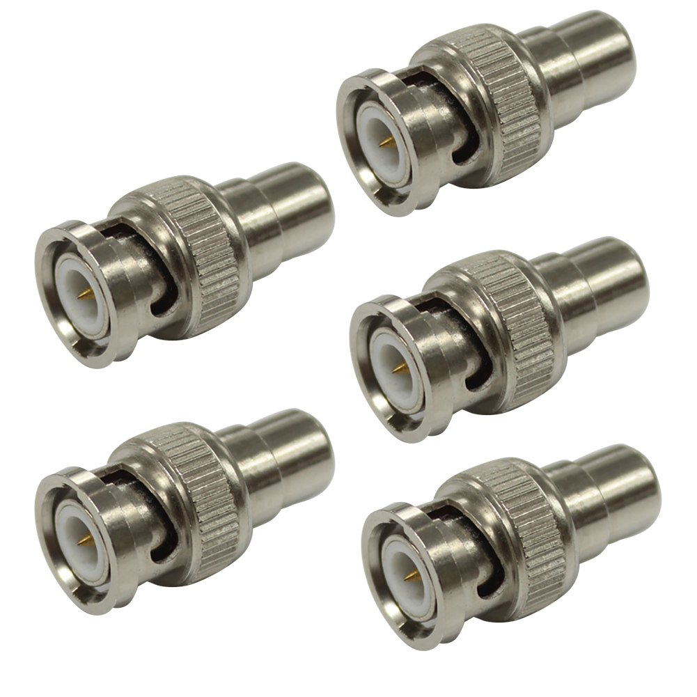 5pcs Convert Metal Plug Tools Camera Video Silver Jack BNC Male To  Female Adapter Connector CCTV Security