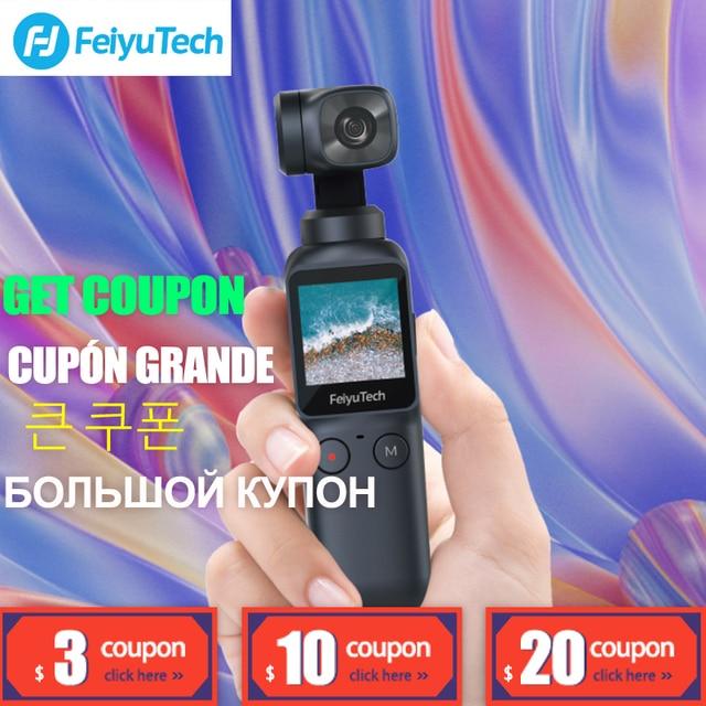 Карманный 3 осевой карданный стабилизатор Feiyutech для камеры, 360 градусов, отслеживание VS Snoppa Atom DJI Osmo Mobile 3 2 Osmo Pocket