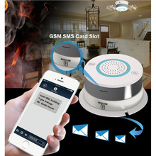 Free Shipping GSM/GPRS Network Alarm Wireless Smoke Detector Fire Smoke Sensitive Detector Home Security Sensor Fire Equipment
