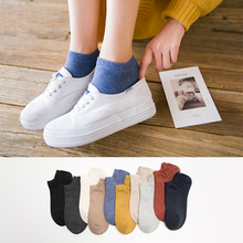 10pcs=5pairs/lot Ankle Socks Women Casual Boat Slipper Thin Solid Cotton for Lady Girl Non Slip