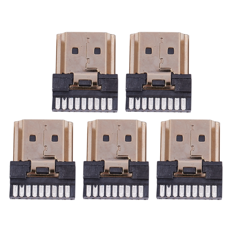 5pcs DIN male Plug 5 Pin Connector with Plastic Handle Adapters Cables OF KK