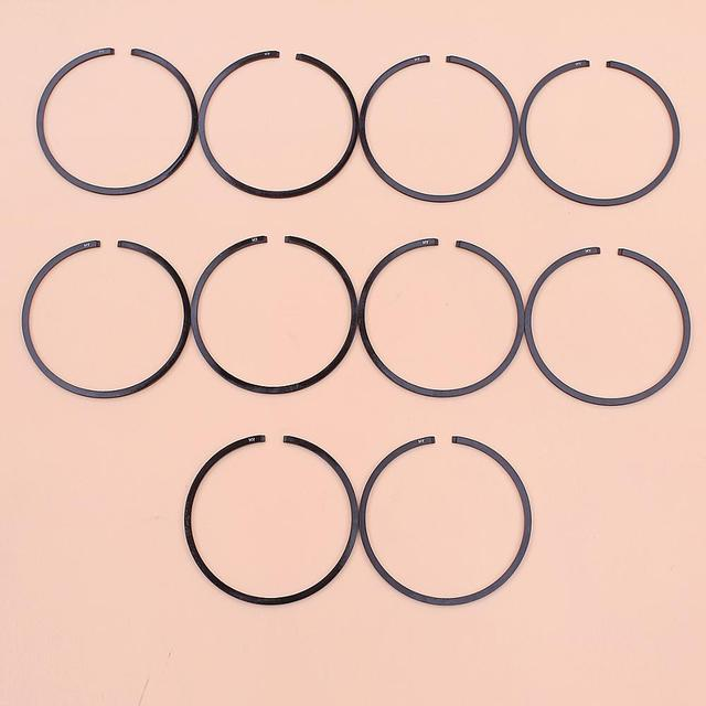 10 teile/los Kolben Ringe Für Stihl MS361 MS362 MS291 MS311 MS341 Kettensäge Teil 1135 034 3000 47mm x 1,2mm