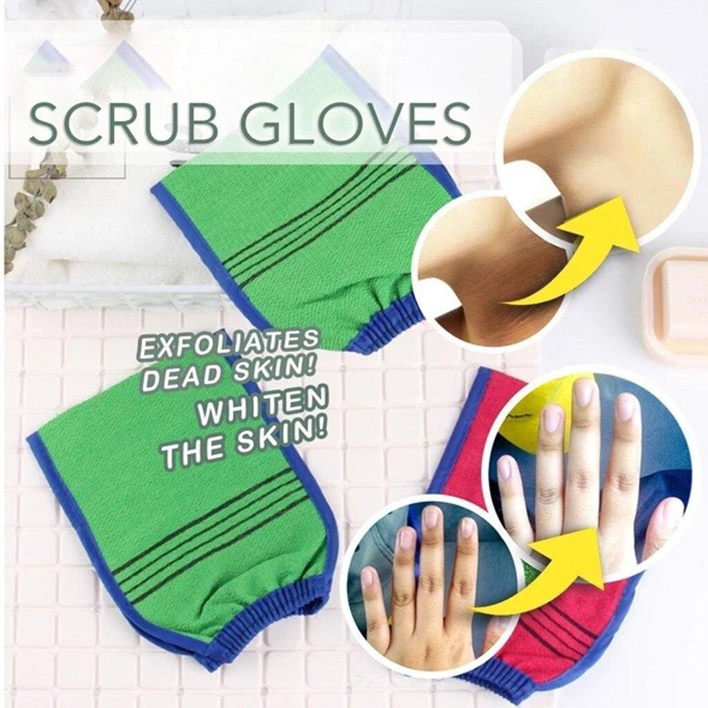 Отшелушивающий скраб для тела, перчатки для душа, ванна, рукавица, массажная губка для кожи, спа