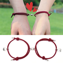 NIUYITID Couple Bracelet For Women Men Fashion Adjustable Magnetic Attract Each Other Long-Distance Love Jewelry Drop Ship