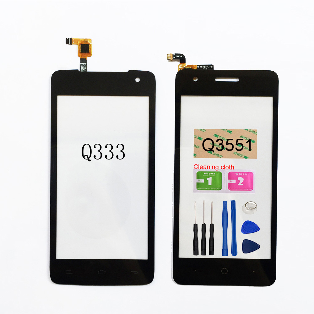 For Micromax Q3551 Q333 Touch Screen Digitizer Sensor Glass Panel Replacement Assembly Parts