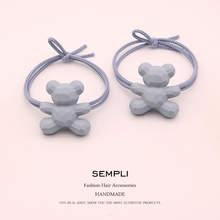 2 Pieces 3 Kinds High Elasticity Elastic Hair Bands For Women Bow-knot Bear Crown Girls Hair Band Kid Children Rubber Band 5 colors elastic heart shape cassic simple for women hair band kid children rubber band high elasticity hair bands