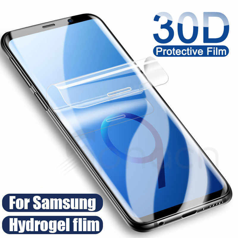 30D Full Curved Hydrogel Film For Samsung Galaxy S10E S9 S8 S10 Plus Safety film For Samsung S7 edge A6 A8 2018 Film Not Glass