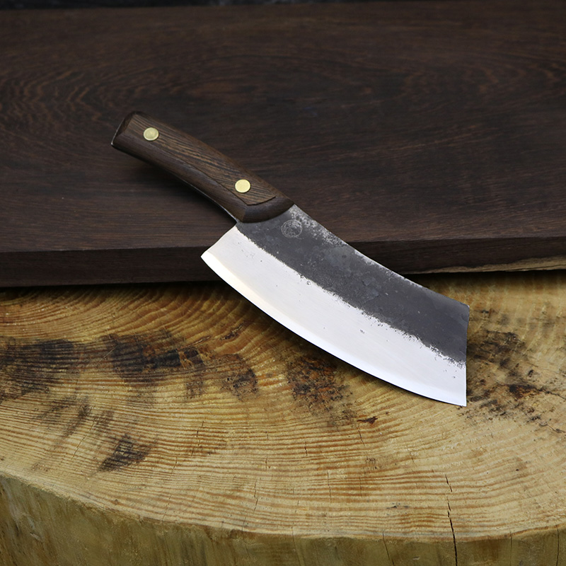 YEELONG Kitchen Knife Cleaver Full Handmade High Carbon Steel Chef Knife wooden handle