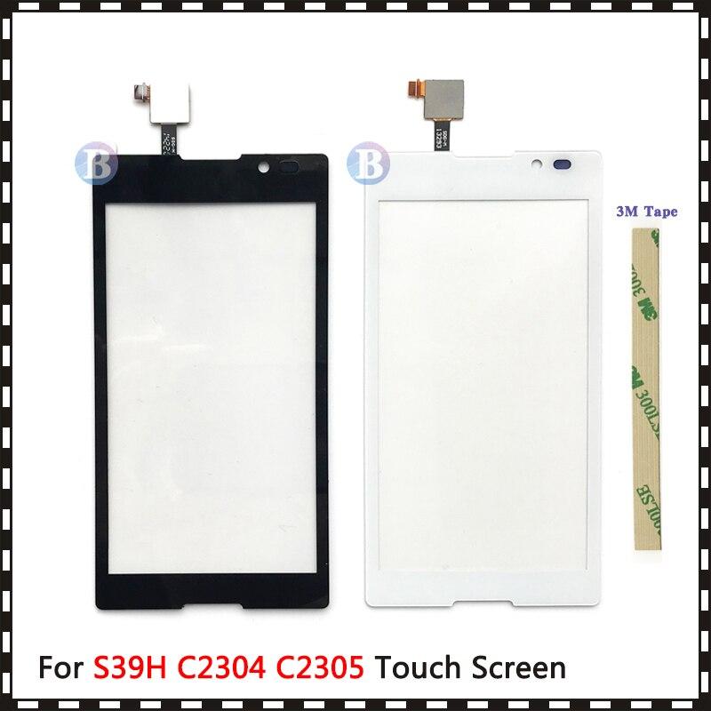 """Di alta Qualità 5.0 """"Per Sony Xperia C S39H C2304 C2305 Touch Screen Digitizer Anteriore Obiettivo di Vetro Pannello Del Sensore"""