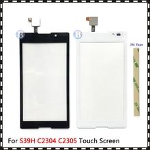 """Wysokiej jakości 5.0 """"dla Sony Xperia C S39H C2304 C2305 ekran dotykowy Panel szkło Digitizer czujnik obiektywu"""