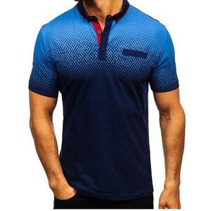 Image 5 - 브랜드 뉴 남성 폴로 셔츠 고품질 남성 코 튼 반소매 셔츠 브랜드 유니폼 여름 남성 폴로 셔츠 camisa 폴로 S 3XL