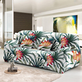 Tropical Leaves Elastic Sofa Cover Detachable Slipcover Dust-proof Stretch Couch Covers 1/2/3/4 Seat For Living Room Decor