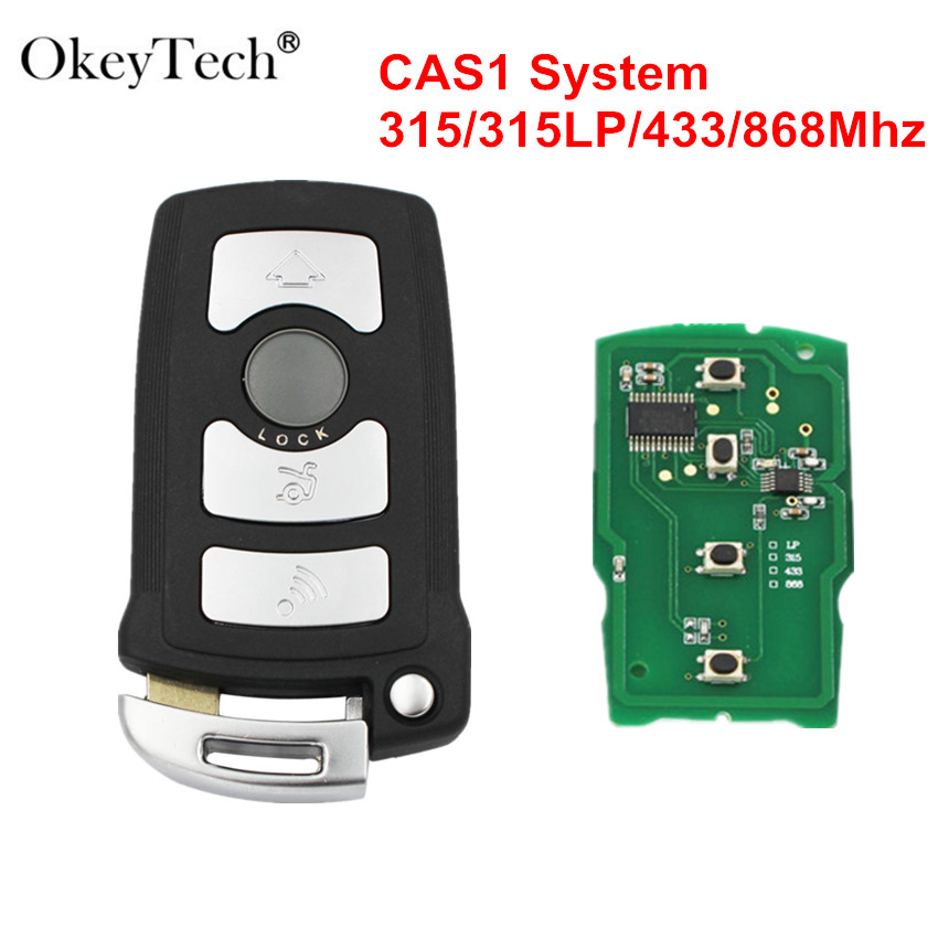 Okeytech 4 Buttons 315//315LP/433/868Mhz PCF7944 CAS1 Smart Car Remote Key Shell Fob For <font><b>BMW</b></font> 7 Series E65 E66 E67 E68 <font><b>745i</b></font> 750i image