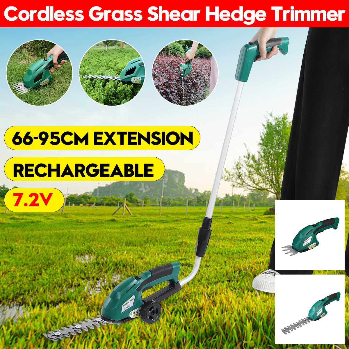 3 in 1 7 2V Electric Trimmer Lithium-ion Cordless Garden Tools  Pruning Shears Hedge Trimmer Rechargeable Hedge Trimmers