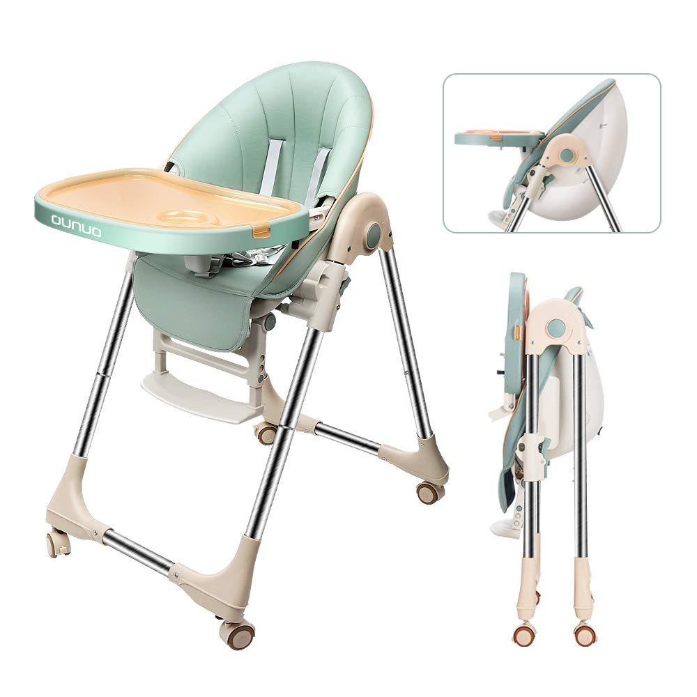 Baby Dining Chair Children Folding Kid Kitchen Table Eating Chair Multifunctional PU Leather Cushion Child Dining Chairs Stools