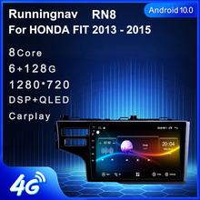 4G LTE Android 10.1 Honda Fit 2013 2015 multimedya Stereo araç DVD oynatıcı oynatıcı navigasyon GPS radyo
