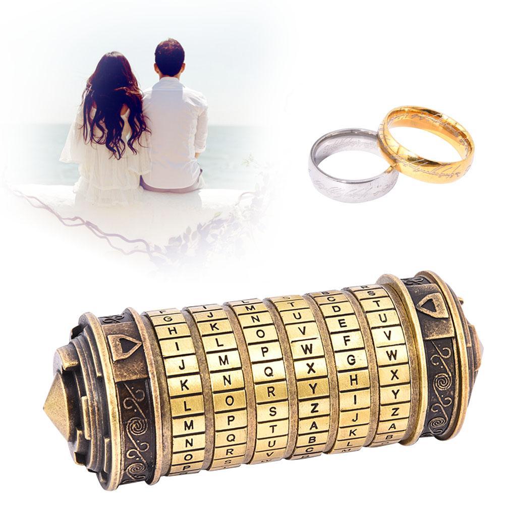 Da Vinci-cerradura de contraseña, juguete educativo, código de decodificación, regalo de cumpleaños romántico e innovador para el Día de San Valentín para esposa