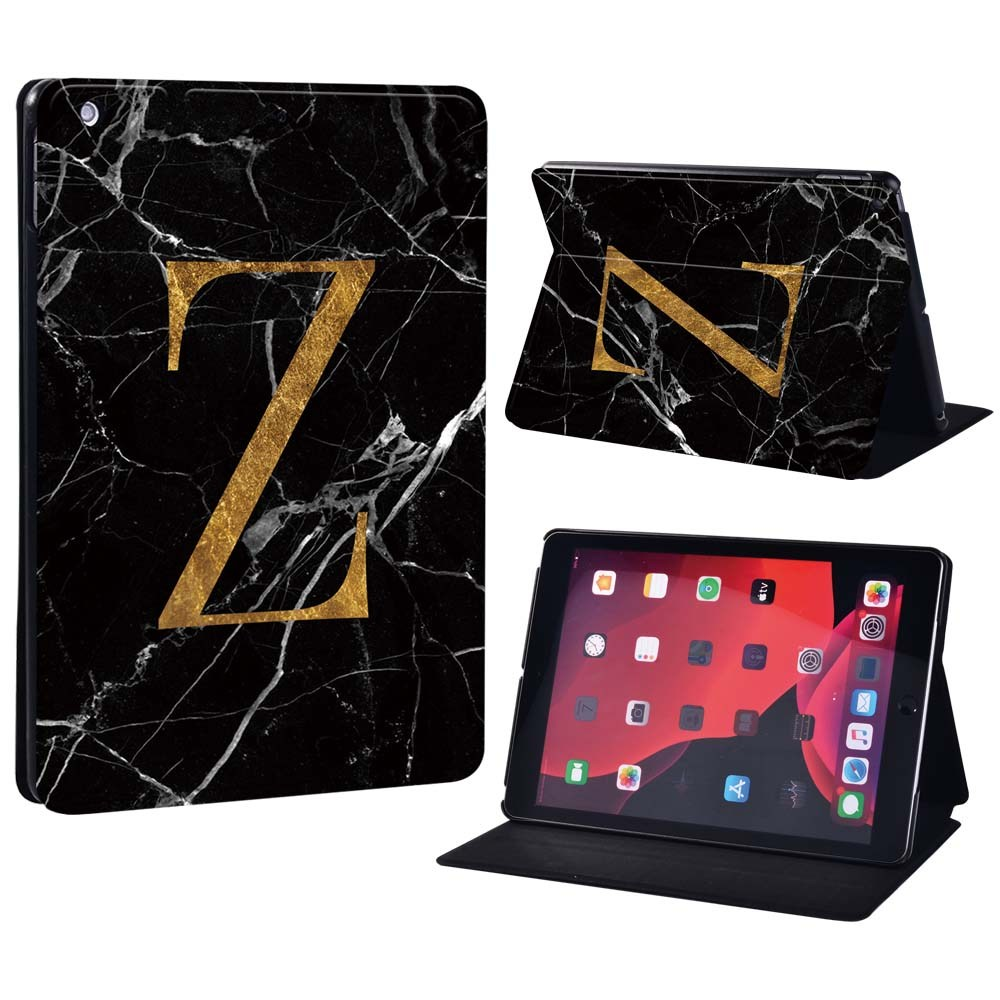 letter Z on black Color Changing For Apple iPad 8 10 2 2020 8th 8 Generation A2428 A2429 Printing initia letters PU