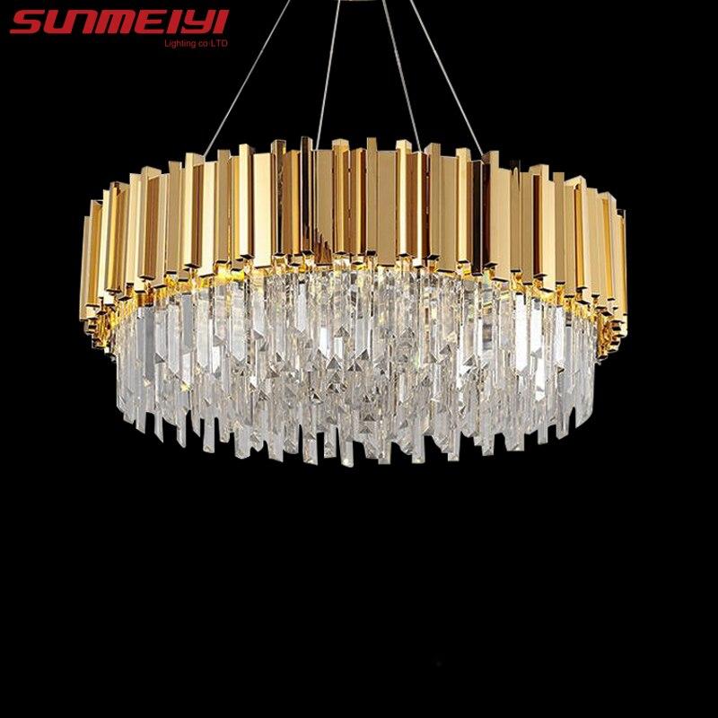 Luxury LED Crystal Chandeliers Lighting For Kitchen Living room Loft Hanging Chain Nordic Gold Chandelier Bedroom Lamp люстры in Chandeliers from Lights Lighting