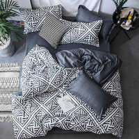 Black Duvet Cover Set Bed Linens Pillowcase 3pcs Bedding Set,Comforter/Quilt/Blanket case Twin Queen King double single Bedding