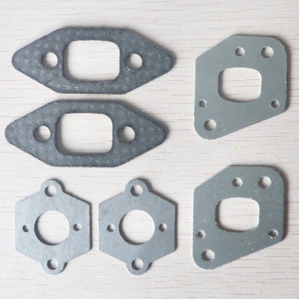 2 Sets Chainsaw Intake Manifold Carburetor Muffler Gasket Kit For P350 Partner 350 351 Replacement