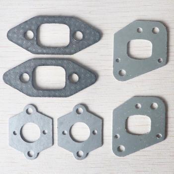 2 sets Chainsaw intake manifold carburetor muffler gasket kit for P350 Partner 350 351 replacement 사슬 톱 도구 -