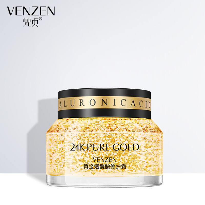 VENZEN 24K Gold Nicotinamide Face Repair Cream Brightening Hydration Moisturizing Oil Control Smoothing Face Skin Care