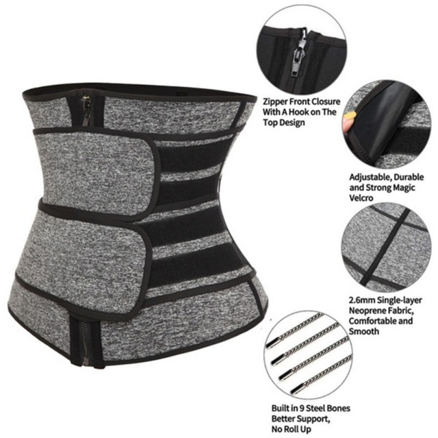 Waist Trainer Comfortable Breathable Corset Sweat Belt For Women Weight Loss Compression Trimmer Workout Fitness Gym Corset New 1