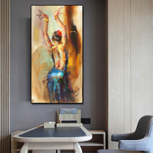 French Style Dancing Girl Canvas Painting Modular pictures Art Cuadros Decorative Customize Wall Pictures Prints unframed