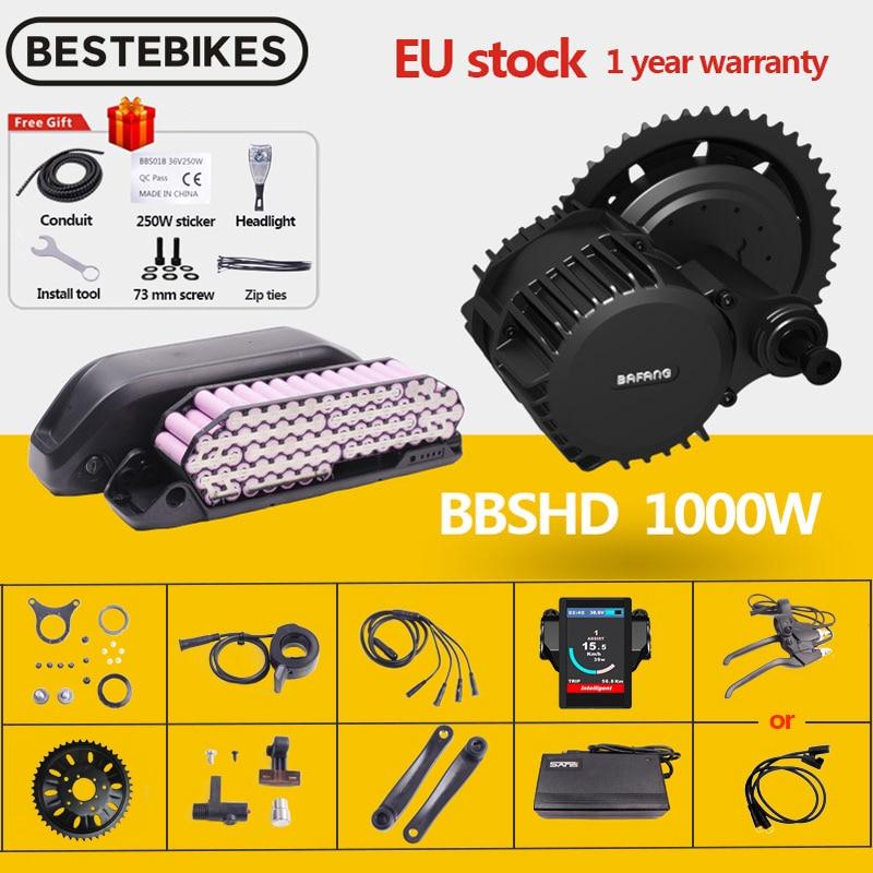 Bafang мотор BBSHD BBS03 48V 52V 1000w мотор среднего привода электрический велосипед мотор конверсионный комплект 52V17.5AH LG литиевая батарея