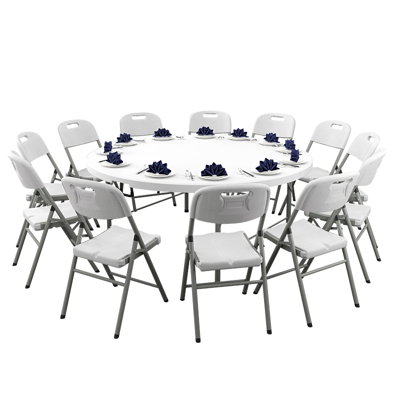 Folding Round Table Home Simple Big Round Table 10 People Foldable Dining Table Dining Table Outdoor Dining Chair