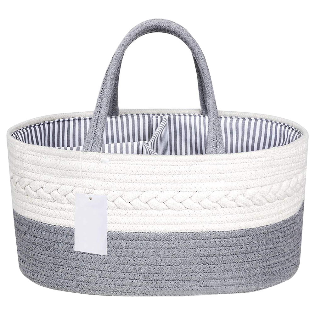 Compartment With Handle Organizer Stackers Home Wipes Nappy Nursery Baby Diaper Basket Gift Container Toy Storage Caddy