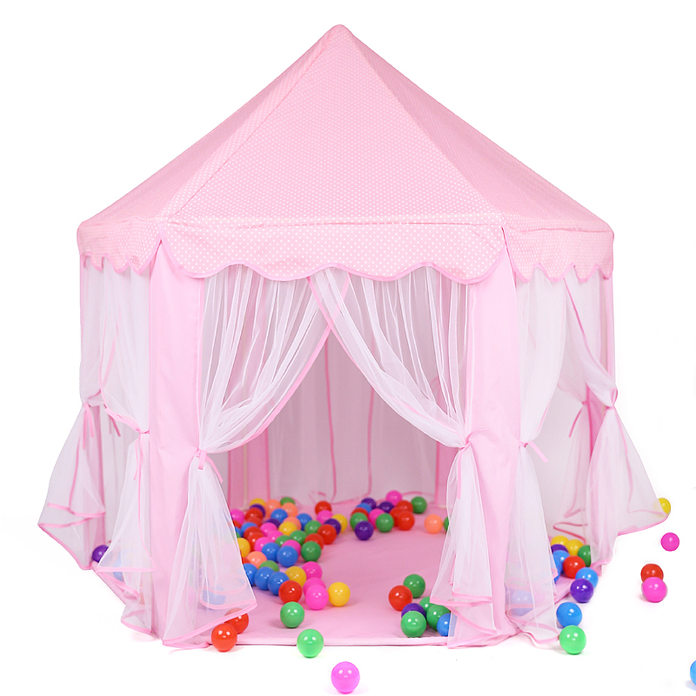Princess Children's Tent Dry Pool Wigwam Girl's Castle Portable Playhouse Kids Outdoor Folding Playtent Baby Beach Tent Kid Gift