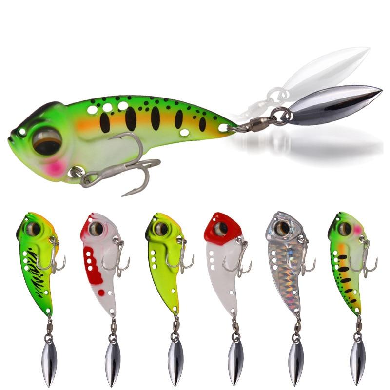 2020 New Arrival Metal VIB 8.5g12.5g17g  Fishing Lure Vibration Spoon Hard Baits Crankbait Wobbler Swimbait Cicada VIB Tackle