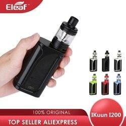 Original 200W Eleaf IKuun I200/ikuu i200 Vape Kit w/MELO 4 Zerstäuber 4,5 ml & 4600mAh Batterie Box Mod e cig vs Drag 2/Luxe Kit