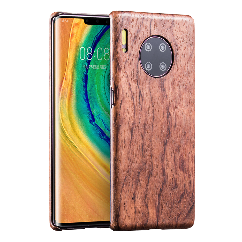 Natural Wooden Phone Case FOR Huawei Mate 30 Pro Mate30 Case Cover Walnut Black Ice Wood Rosewood