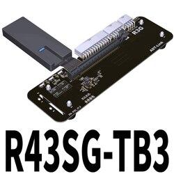 وصلة ADT R43SG TB3 PCIe x16 PCI-e x16 إلى TB3 كابل تمديد PCI Express كابلات eGPU محول Thunderbolt 3 محطة إرساء