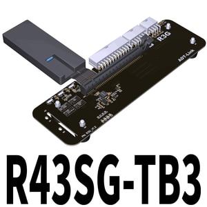 ADT Link R43SG TB3 PCIe x16 PCI-e x16 do TB3 kabel przedłużający PCI Express kable Adapter eGPU Thunderbolt 3 stacja dokująca