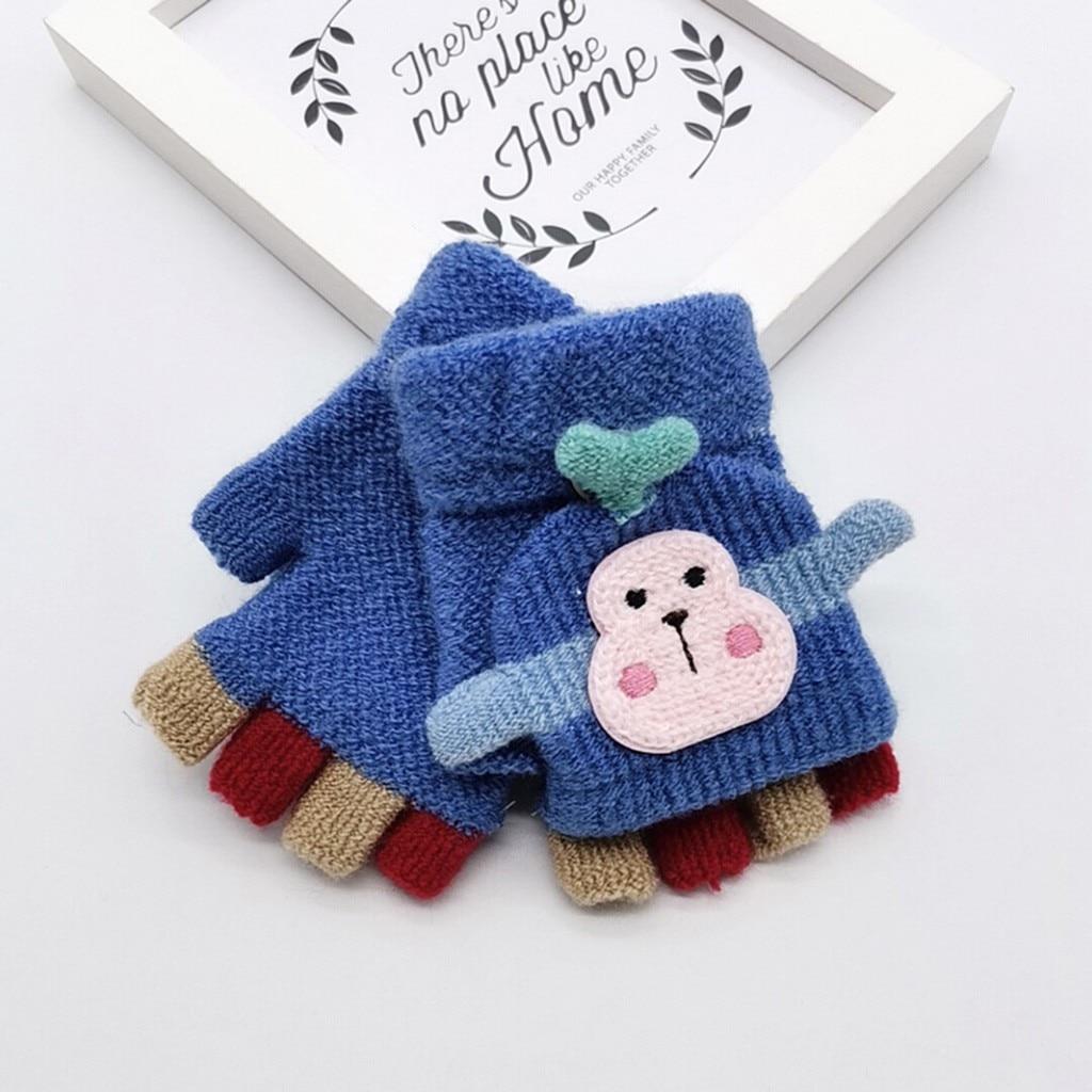 Для малышей, детей, Зимняя Теплая Вязаная безрукавка без пальцев, перчатки-трансформер, удобные перчатки для маленьких мальчиков и девочек